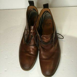Clarks Mens Desert Chukka Brown Leather Boots